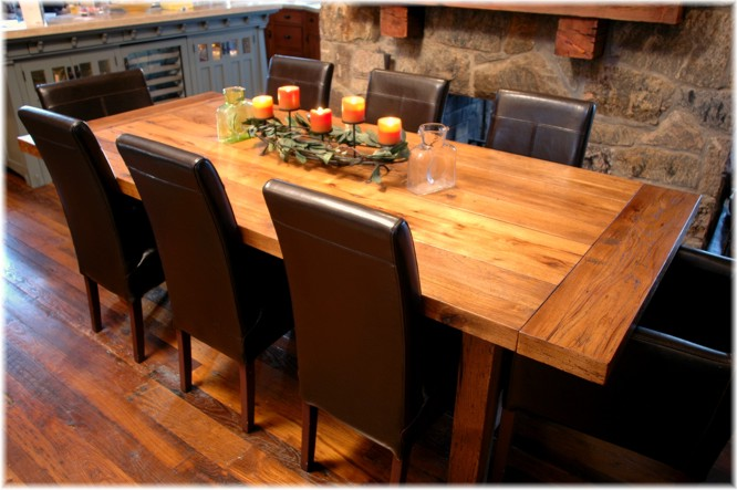custom dining table reclaimed wood made room tables toronto ontario steps making most